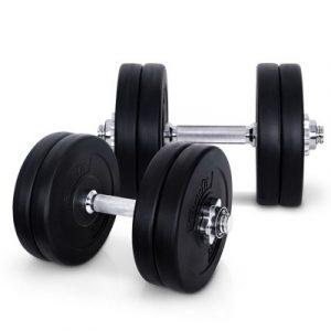 Everfit 25kg Fitness Gym Exercise Dumbbell Set FIT-E-DB-SET-25KG