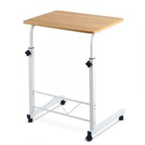 Mobile Twin Laptop Desk - Light Wood LA-DESK-60-LW