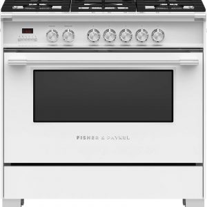 Fisher & Paykel 90cm Freestanding Dual Fuel Cooker Oven/Stove OR90SCG4W1