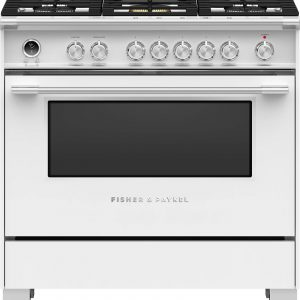 Fisher & Paykel 90cm Freestanding Dual Fuel Cooker Oven/Stove OR90SCG6W1