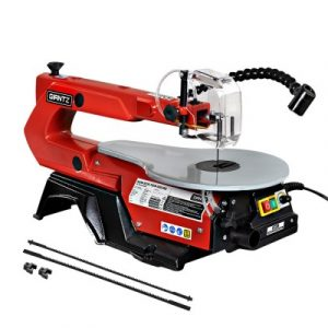 """Giantz 16"""" 120W Scroll Saw Blades Variable Speed Saws Electric Lamps Scrollsaw SAW-SCR-16IN-500-RD"""