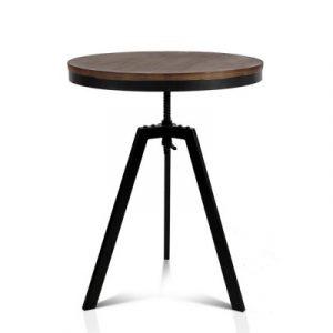 Artiss Elm Wood Round Dining Table - Dark Brown BA-TW-V17-COF-TAB