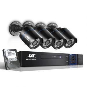 UL-Tech 1080P 4 Channel HDMI CCTV Security Camera with 1TB Hard Drive CCTV-4C-4B-BK-T