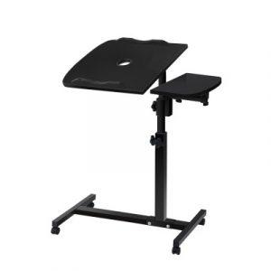 Artiss Laptop Table Desk Adjustable Stand With Fan - Black LA-DESK-GEN-L2-BK