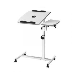 Artiss Laptop Table Desk Adjustable Stand With Fan - White LA-DESK-GEN-L2-WH