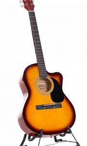 Karrera Acoustic Cutaway 40in Guitar - Sunburst acg40-sb