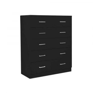 Tallboy Dresser 6 Chest of Drawers Cabinet 85 x 39.5 x 105 - Black cbt-085-040-105-bk