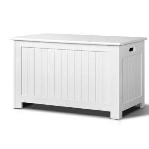 Keezi Kids Wooden Toy Chest Storage Blanket Box White Children Room Organiser FURNI-G-TOY213-WH