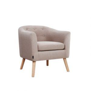 Artiss ADORA Armchair Tub Chair Single Accent Armchairs Sofa Lounge Fabric Beige UPHO-D-ARM02-BG