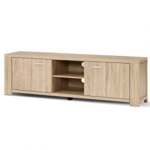 Artiss TV Cabinet Entertainment Unit TV Stand Display Shelf Storage Cabinet Wooden FURNI-N-MAXI-TV160-WD-AB