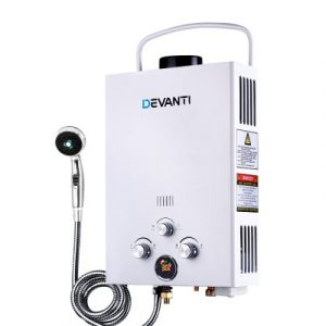 Devanti Outdoor Gas Water Heater GWH-LPG-8L-SW-WH-DI