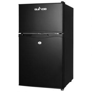 Glacio 90L Portable Fridge Bar Freezer Cooler Upright 12V/24V/240V Caravan 4WD Car Camping Black PFN-F-90-D-BK