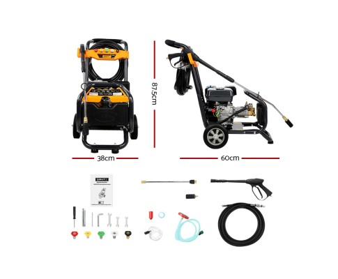 Giantz 8HP 4800PSI High Pressure Washer WASHER-80D-15M-GY