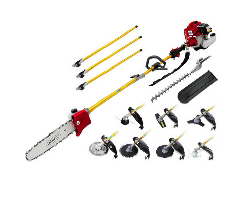 Giantz 65CC Pole Chainsaw Hedge Trimmer Whipper Brush Cutter Pruner Snipper Long PCAW-75CC-GSAW