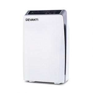 Devanti Air Purifier Purifiers HEPA Filter Home Freshener Carbon Ioniser Cleaner PURI-D-501-WH