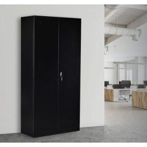 Two-Door Shelf Office Gym Filing Storage Locker Cabinet Safe V63-799127