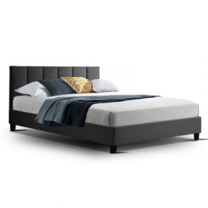 Artiss ANNA Double Size Bed Frame Fabric Charcoal BFRAME-H-ANNA-D-CA-AB