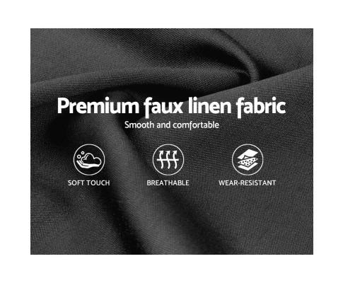 Artiss Queen Size Bed Frame Base Mattress Platform Fabric Wooden ANNA Charcoal BFRAME-H-ANNA-Q-CA-AB