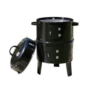 3in1 Charcoal BBQ Grill Smoker Portable Outdoor Barbecue Roaster Steel Camping BG1001