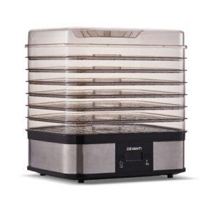 Devanti Food Dehydrator with 7 Trays - Silver FD-B-1159-SS-7