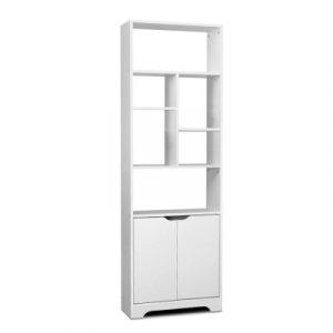 Artiss Bookshelf Display Shelf Adjustable Storage Cabinet Bookcase Stand Rack FURNI-E-MORE-03-WH-AB