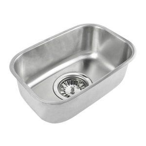 Kitchen Sink Stainless Steel Under/Topmount Handmade Laundry Single Bowl KT0198