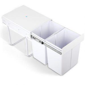 Cefito 2x20L Pull Out Bin - White POT-BIN-20L-SET-WH