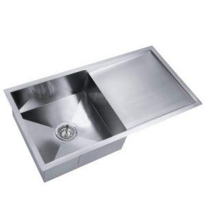 Cefito 750x450mm Kitchen Sink Handmade Stainless Steel Under or Topmount Laundry SINK-R10-7545-205