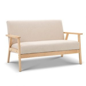 Artiss 2 Seater Fabric Sofa Chair - Beige UPHO-C-SOFA-8033-2S-BG