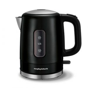 Morphy Richards 1L Accents Stainless Steel Electric Kettle Black 101006