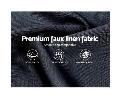 Bed Frame Double Size Base Mattress Platform Fabric Wooden Charcoal LARS BFRAME-H-LARS-D-CA-AB