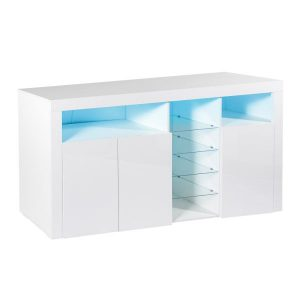 Levede 180cm Buffet Sideboard Cabinet Storage Modern High Gloss Cupboard White FU9005-180-