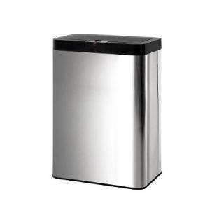 Stainless Steel Sensor Bin Rubbish Trash Bins Motion Automatic Touch Free 50L SB-C01-50L-SS
