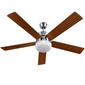 Devanti 52'' Ceiling Fan w/Light Wall Control 2-sided Blades CF-52-072-DW