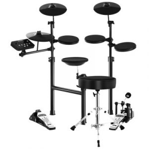 8 Piece Electric Electronic Drum Kit Drums Set Pad and Stool Kids Adults Foldable ED-SD611-STOOL