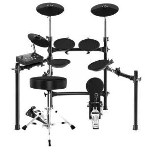 8 Piece Electric Electronic Drum Kit Drums Set Pad and Stool For Kids Adults Sili ED-SD613-STOOL