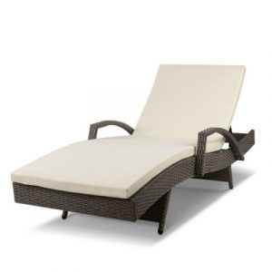 Gardeon Outdoor Sun Lounge - Grey FF-LOUNGE-ARM-GE