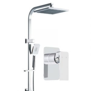 Cefito WELS 8'' Rain Shower Head Mixer Square Handheld High Pressure Wall Chrome SHOWER-B2-SQ-8-SI-MIXER