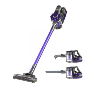 Devanti 150 Cordless Handheld Stick Vacuum Cleaner 2 Speed Purple And Grey VAC-CL-09E-GY-PP