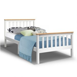 Artiss King Single Wooden Bed Frame Timber Kids Adults WBED-D-TC18-107