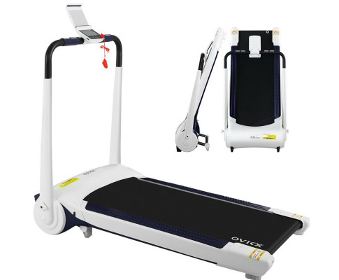 OVICX Electric Treadmill Q1 Home Gym Exercise Machine Fitness Equipment Compact White TMILL-H-420-Q1-WH