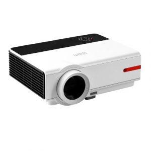 Devanti Mini Video Projector Portable HD 1080P 3200 Lumens Home USB VGA HDMI VP-808-WH