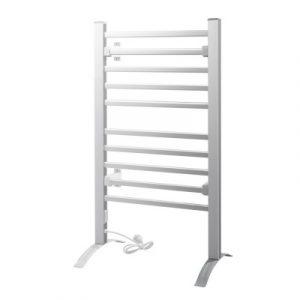 Devanti Heated Towel Rail Rack Bathroom Aluminum Electric Rails Warmer Clothes 10 Rungs TW-C-FW-10-ALUM