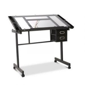 Artiss Adjustable Drawing Desk - Black and Grey DRAW-DESK-03-SI