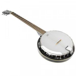 Karrera 6 String Resonator Banjo - Black 6s-banjo-bk