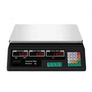Commercial Digital Kitchen Scales LCD Shop 40KG Food Weight Electronic Scale KT0400-40KG