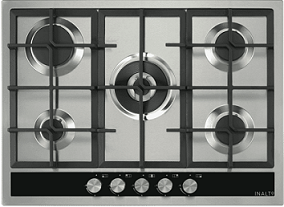 InAlto 70cm Gas Cooktop with Wok Burner ICGW70S