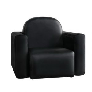 Keezi Kids Sofa Armchair Black PU Leather Convertible Chair Table Couch Children KID-CHAIR-TAB-BK