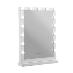 Embellir Hollywood Makeup Mirror With Light 15 LED Bulbs Vanity Lighted Stand MM-FRAME-4361-WH