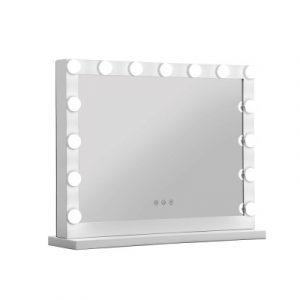 Embellir Makeup Mirror With Light Hollywood 15 LED Bulbs Vanity Lighted White MM-FRAME-5846-WH